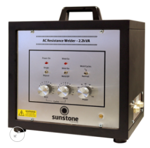 Sunstone 交流焊接系统主要用于焊接金属网,金属丝,箔材,滤网,等细缝焊接应用